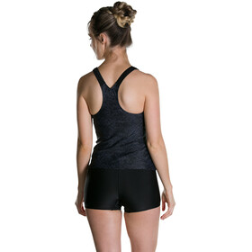 speedo Boom Allover Bikini Damer, black/oxid grey